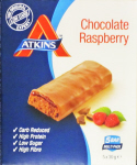 Atkins Chocolate Raspberry Box of 5 Bars BRAND NEW!