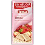 Torras Chocolate Bar 75g - White Chocolate with Strawberry SALE Best before 28 February 2019
